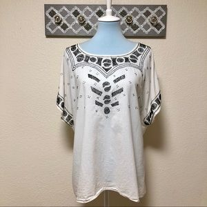 The Great Beaded Willow Tunic, Size 3 (L 12/14)
